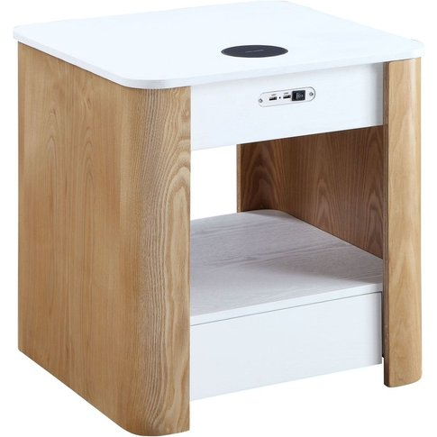 Jual San Francisco White Ash Square Bedside Cabinet ...