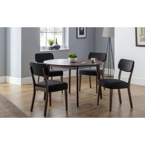 Julian Bowen Farringdon Circular Dining Table And 4 ...