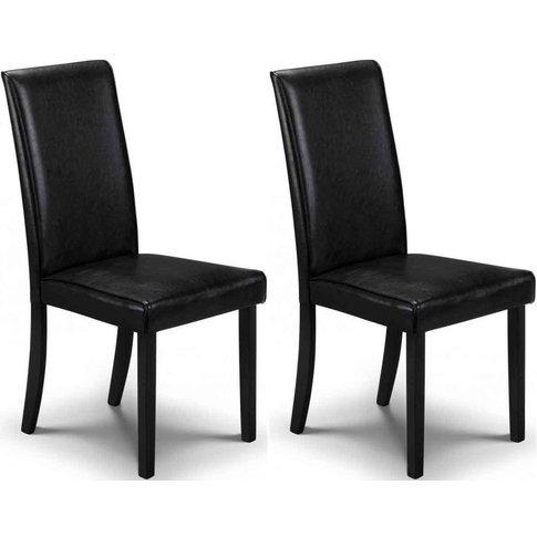 Julian Bowen Hudson Black Dining Chair
