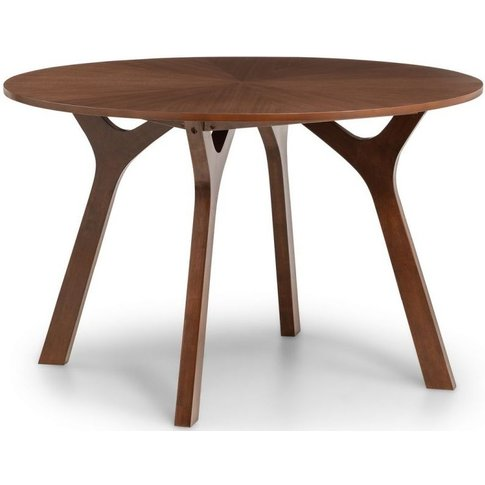 Julian Bowen Huxley Walnut Round Dining Table