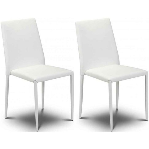 Julian Bowen Jazz White Dining Chair