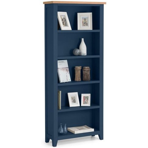 Julian Bowen Richmond Oak And Blue Bookcase