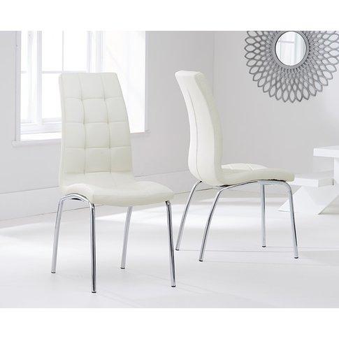 Mark Harris California Cream Faux Leather Dining Chair