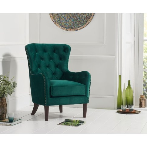 Mark Harris Barton Green Velvet Accent Chair