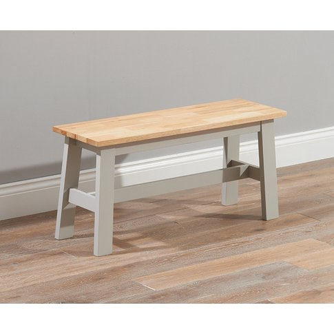 Mark Harris Chichester Oak And Grey Small Dining Bench