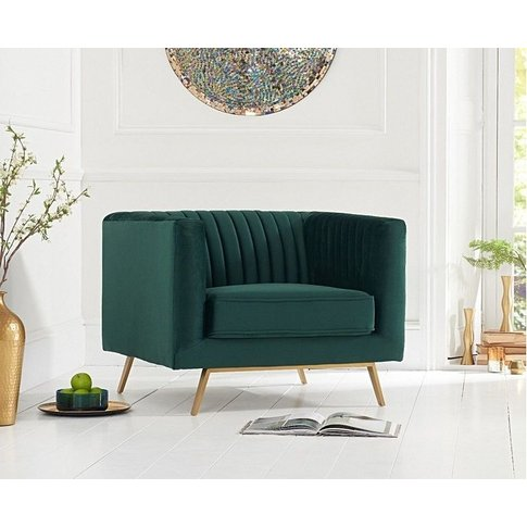 Mark Harris Danielle Green Velvet Armchair