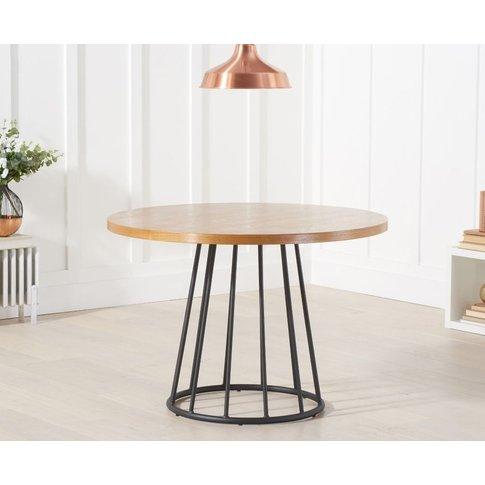 Mark Harris Heron Round Dining Table - Ash Wood And Metal