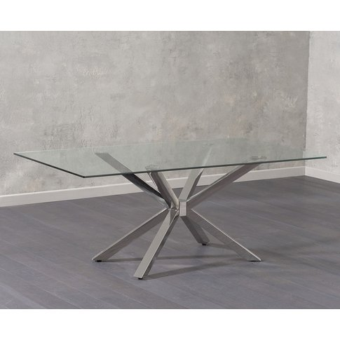 Mark Harris Renato Glass Rectangular Dining Table - ...