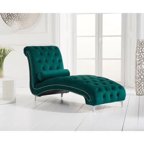 Mark Harris New England Green Velvet Chaise Longue