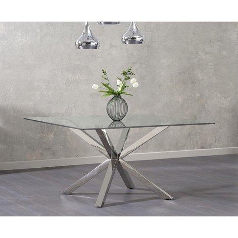 Mark Harris Remus Glass Square Dining Table - 140cm