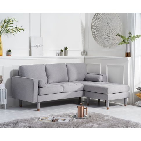 Mark Harris Liam Grey Linen Fabric 3 Seater Reversib...