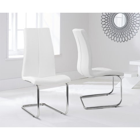 Mark Harris Tonia White Faux Leather Dining Chair (P...