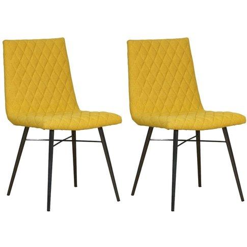 Mark Webster Barnyard Yellow Fabric Dining Chair (Pair)