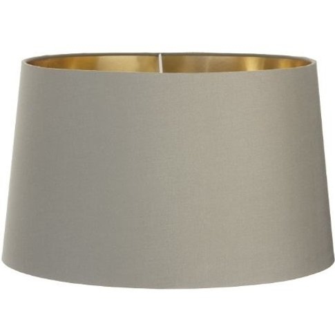 Rv Astley 48cm Soft Brown Shade With Gold Lining