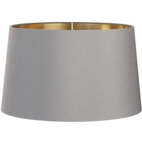 Rv Astley Grey Lamp Shade With Gold Lining - 40cm