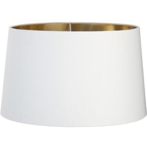 Rv Astley Opal Lamp Shade With Gold Lining - Dia 34cm