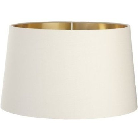 Rv Astley Soft Latte Lamp Shade With Gold Lining - D...