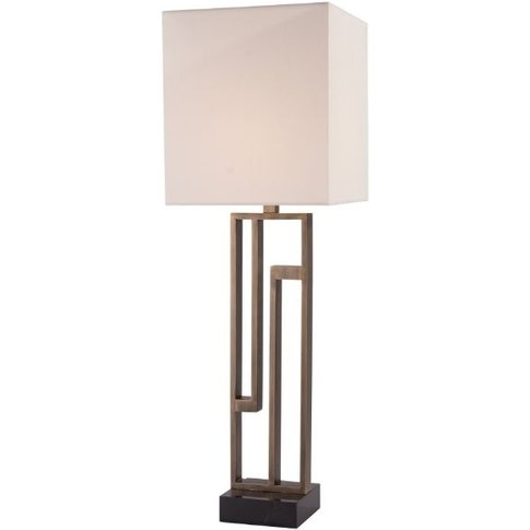 Rv Astley Kianna Tall Table Lamp - Black Marble And ...