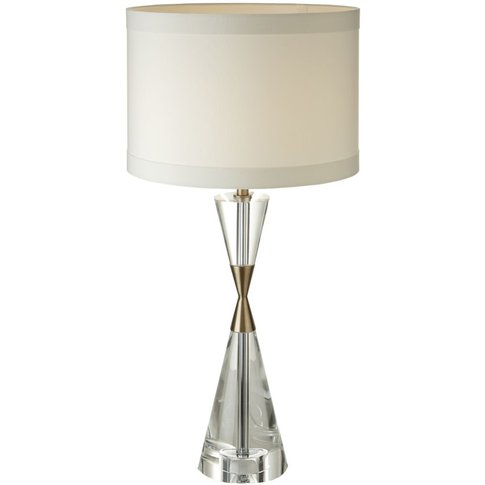 Rv Astley Cale Table Lamp - Crystal And Antique Brass