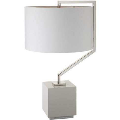 Rv Astley Cyclone Nickel Tg Table Lamp With Shade