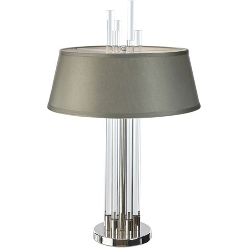 Rv Astley Easby Table Lamp - Nickel And Crystal