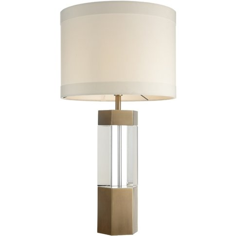 Rv Astley Faye Table Lamp - Antique Brass And Crystal