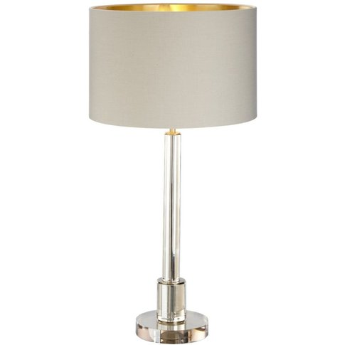 Rv Astley Haldor Table Lamp - Cognac Crystal And Antique Brass
