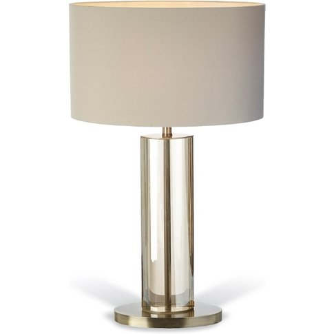 Rv Astley Lisle Table Lamp - Antique Brass And Crystal