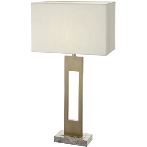 Rv Astley Ryan Table Lamp - Antique Brass And Grey Marble