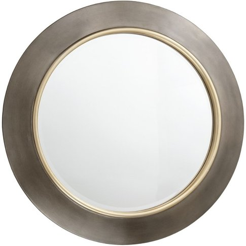 Rv Astley Guido Brushed Gunmetal And Brass Round Wal...
