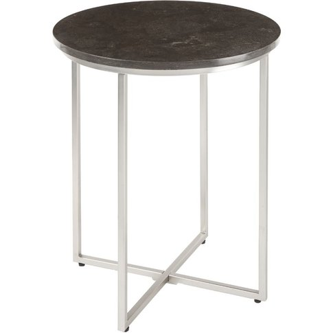 Rv Astley Daire Caviar Side Table - Marble And Brush...
