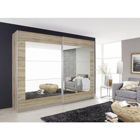 Rauch Alegro 2 Door Sliding Wardrobe In Oak - W 226cm