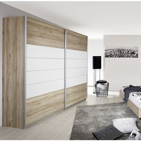 Rauch Barcelona 2 Door Sliding Wardrobe In Oak And W...