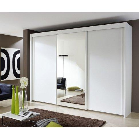 Rauch Imperial 3 Door Mirror Sliding Wardrobe In Whi...