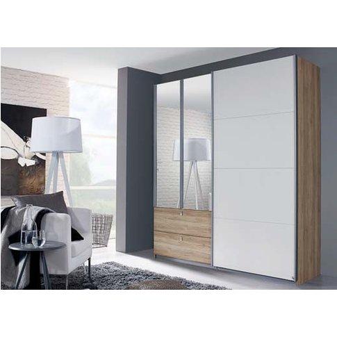 Rauch Kombino 3 Door Combi Wardrobe In Oak And White...