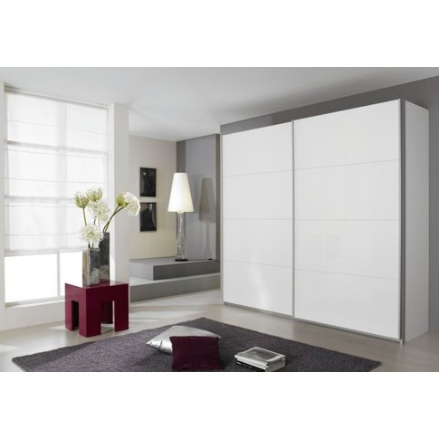 Rauch Quadra 2 Door Sliding Wardrobe In White - W 226cm