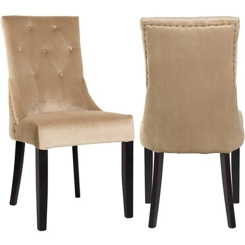 Sandy Fabric Dining Chair (Pair)