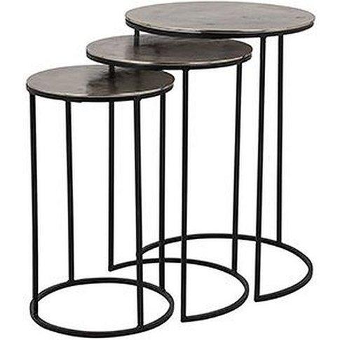 Nolan Aluminium Side Table (Set Of 3)