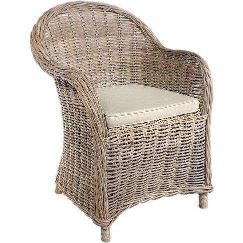 Rowico Maya Rattan Armchair - Grey Wash