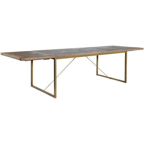 Rowico Tate Extending Dining Table With Leaves - Bronze