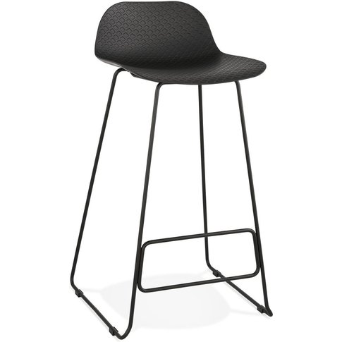 Barra Black Painted Steel Bar Stool