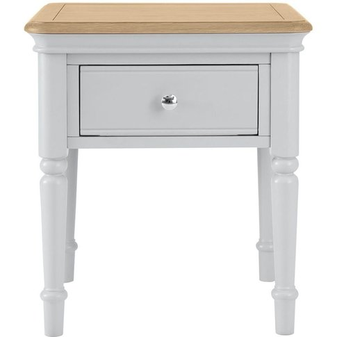 Annecy Soft Grey Painted 1 Drawer Lamp Table