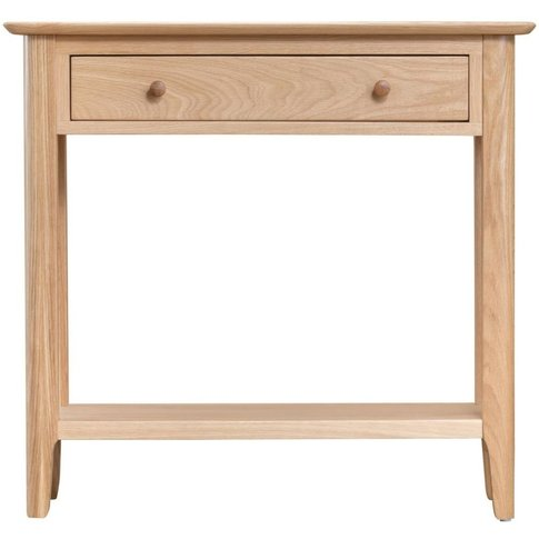 Appleby Natural Oak 1 Drawer Console Table