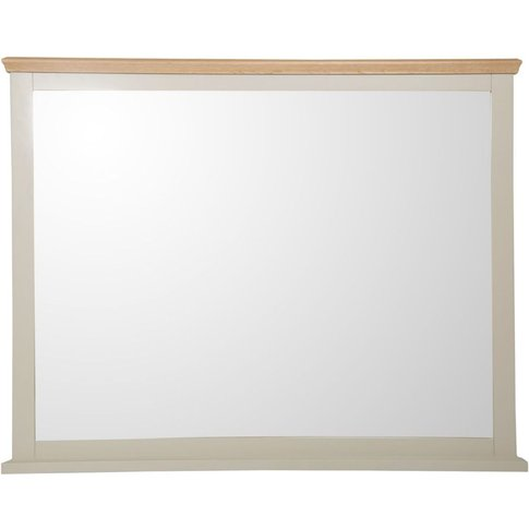 Arlington Country Oak Top With Truffle Painted Rectangular Wall Mirror - 115cm X 106cm