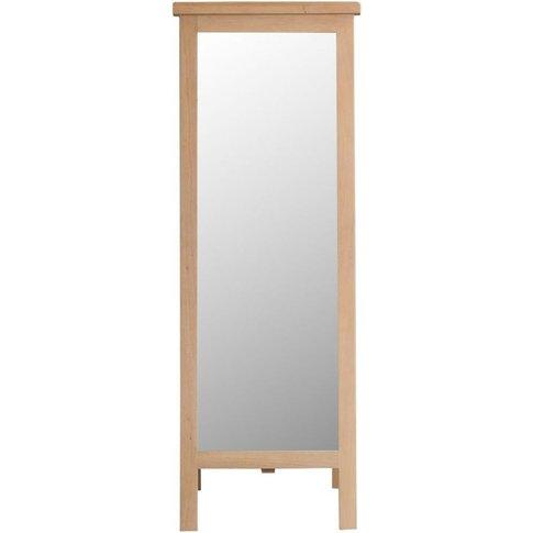 Henley Washed Oak Rectangular Cheval Mirror