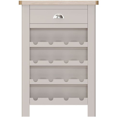 Portland Dove Grey Painted 1 Drawer Wine Cabinet