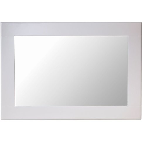 Shore Dove Grey Painted Rectangular Wall Mirror - 80...