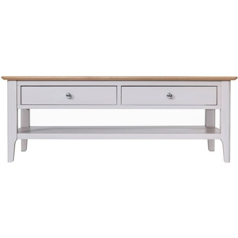 Shore Dove Grey Painted 2 Drawer Storage Coffee Table