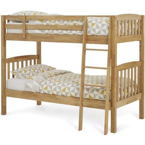 Serene Ella Hevea Wood Honey Oak Bunk Bed