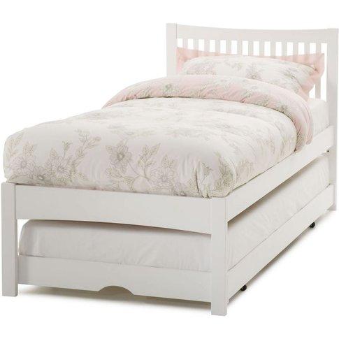 Hevea Wood Mya Opal White Guest Bed - Serene Furnish...